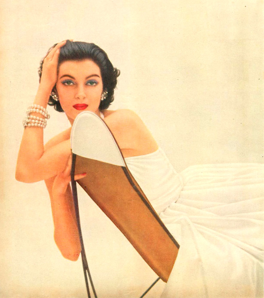 1950's glamour shot - woman in white
