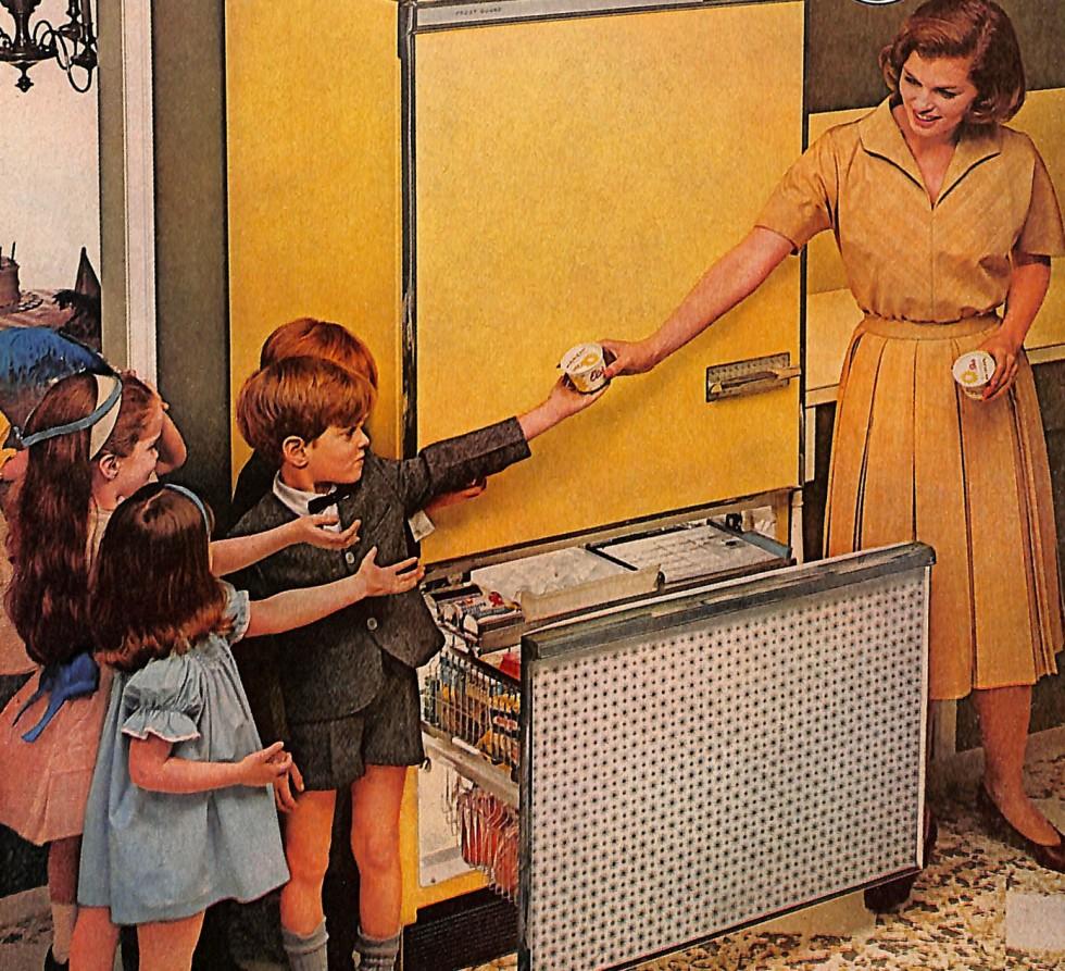 Mid-century kitchen and kids
