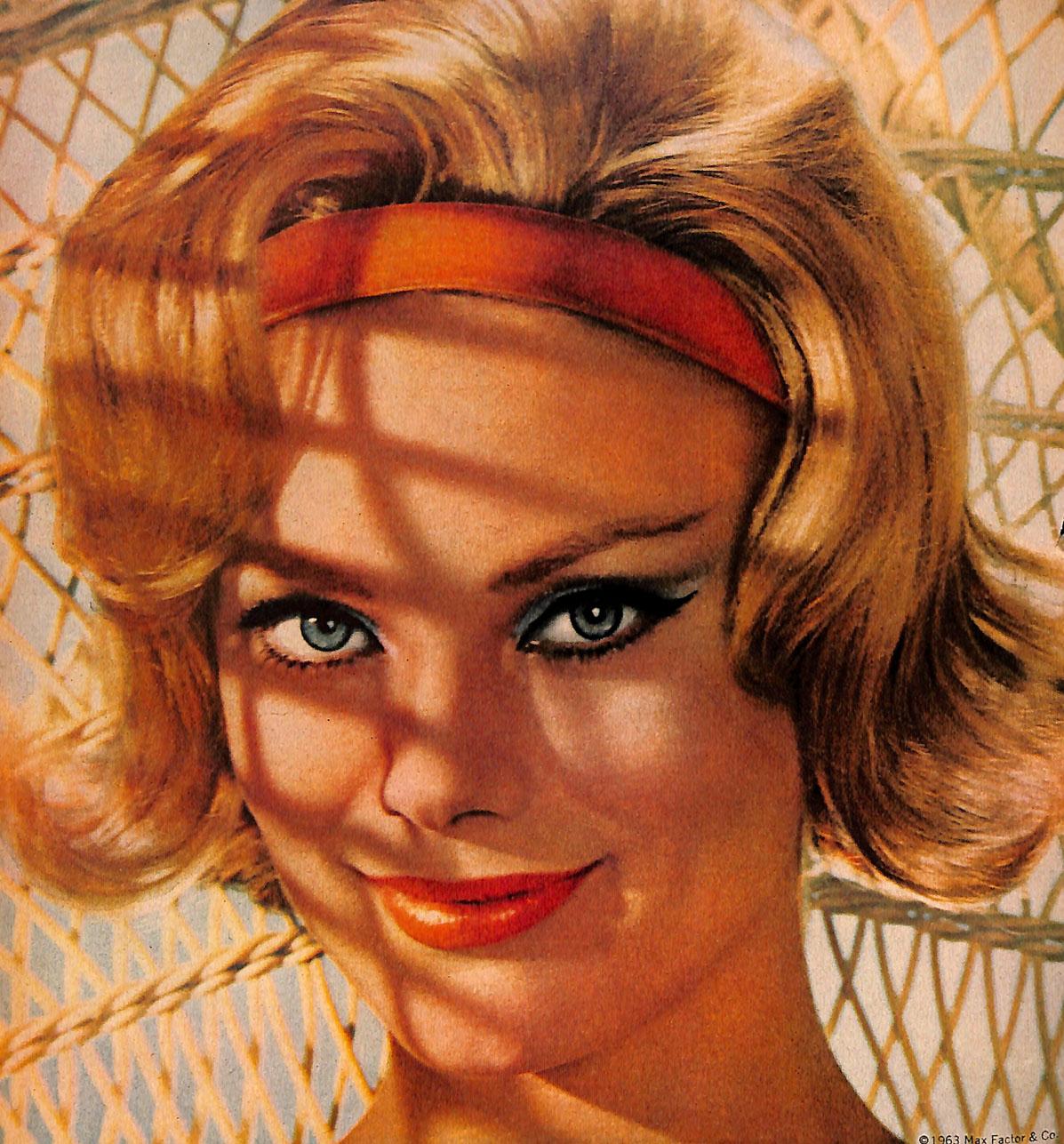 Vintage 1963 Max Factor Ad