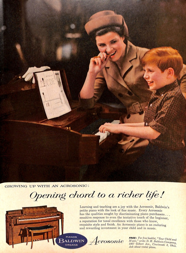 Baldwin Organ ad from 1963