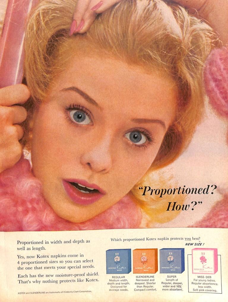1963 Good Housekeeping Kotex ad