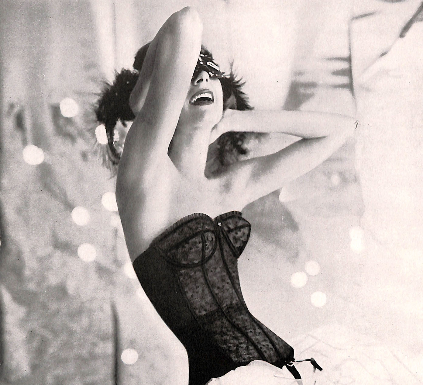 Black lacy corset from Warner's