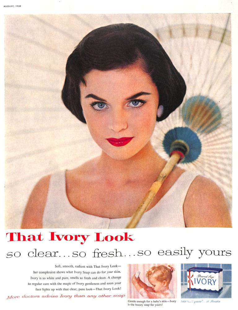 1958 ad for Ivory soap.