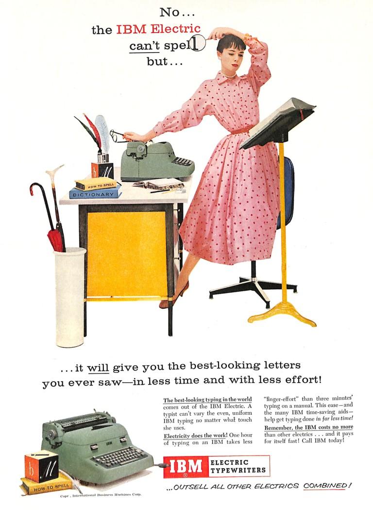 1956 IBM Electric Typewriter ad