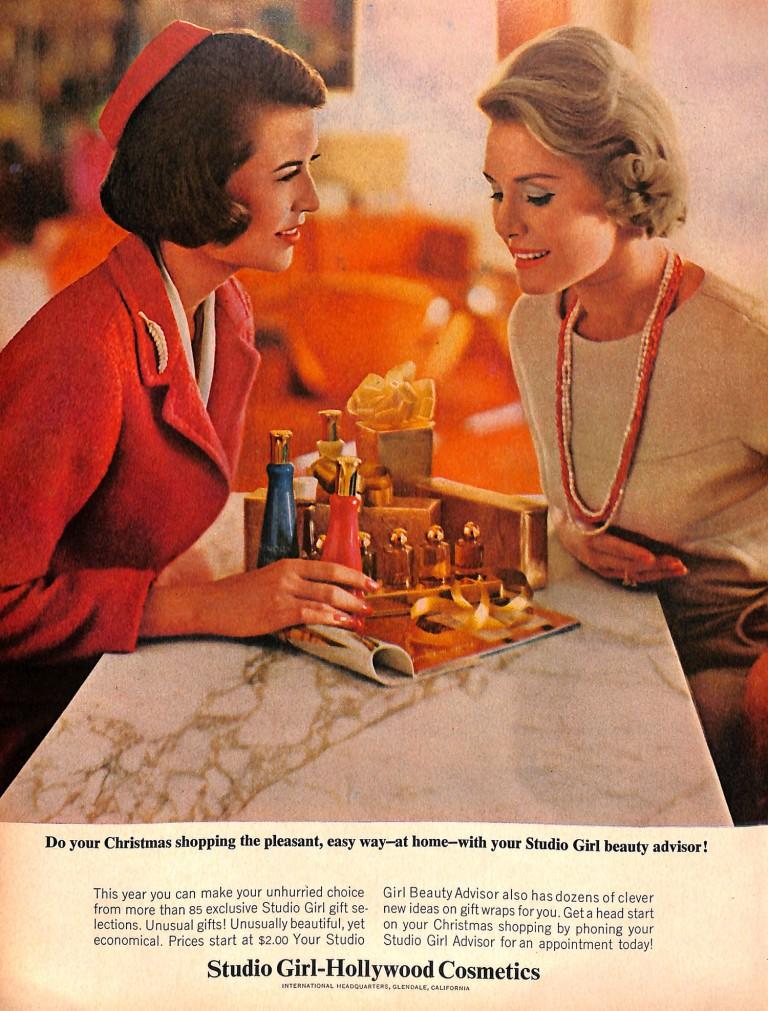 1963 Hollywood cosmetics ad