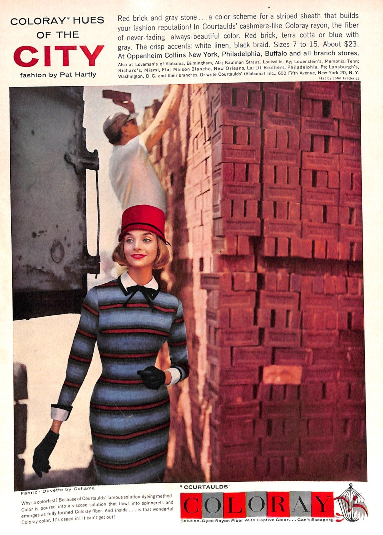 1957 Striped Dress and Red Hat