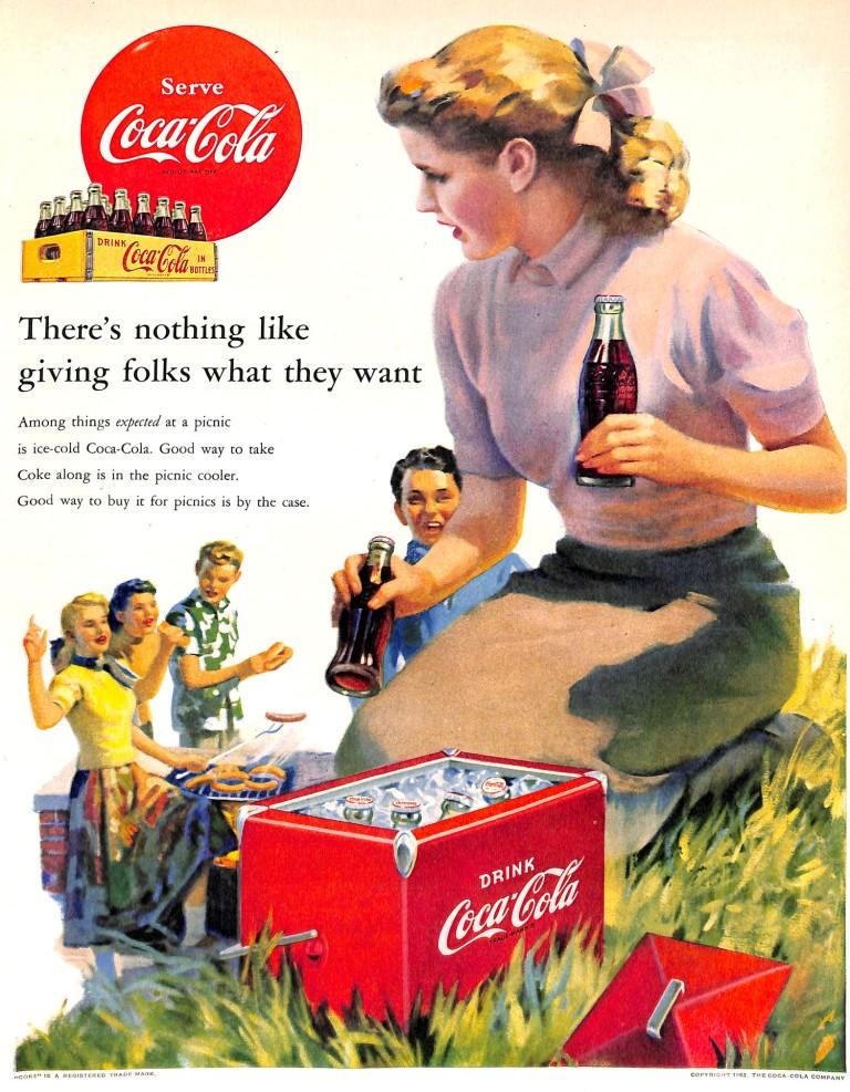 1952 Coca Cola Ice Chest