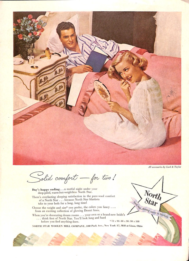 1951 couple in twin beds