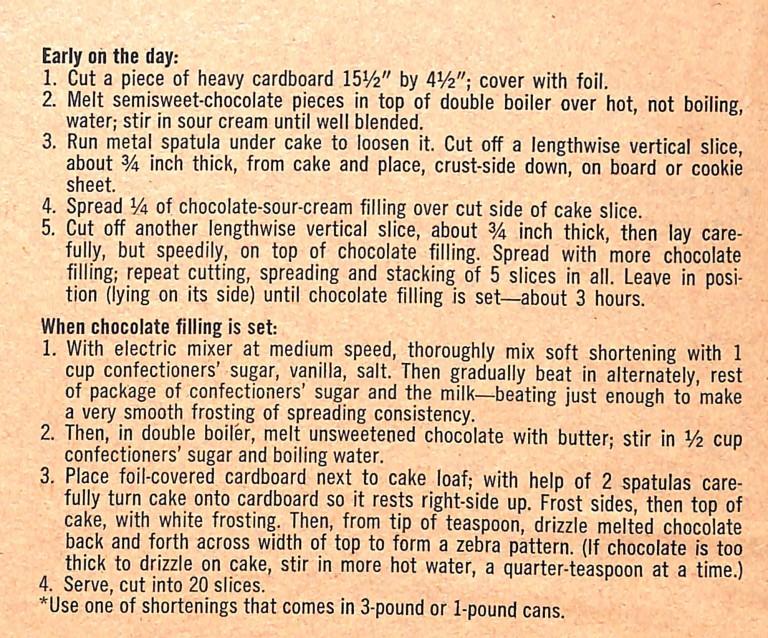 Zebra Loaf Cake recipe scan (2 of 2)