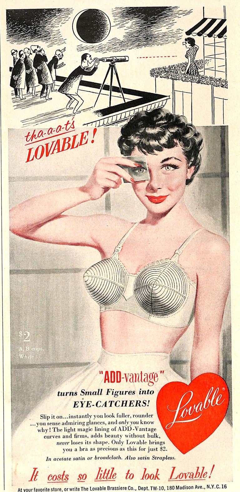 1952 Lovable Bra ad