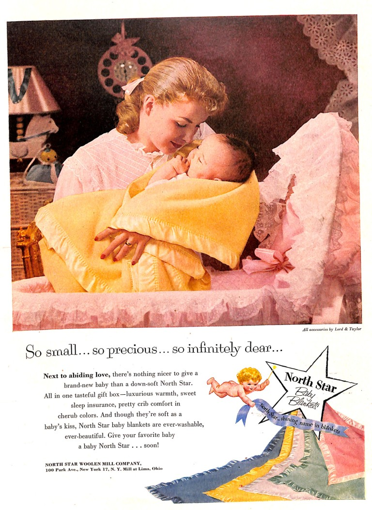 Mother and Newborn Baby in North Star Blank Ad