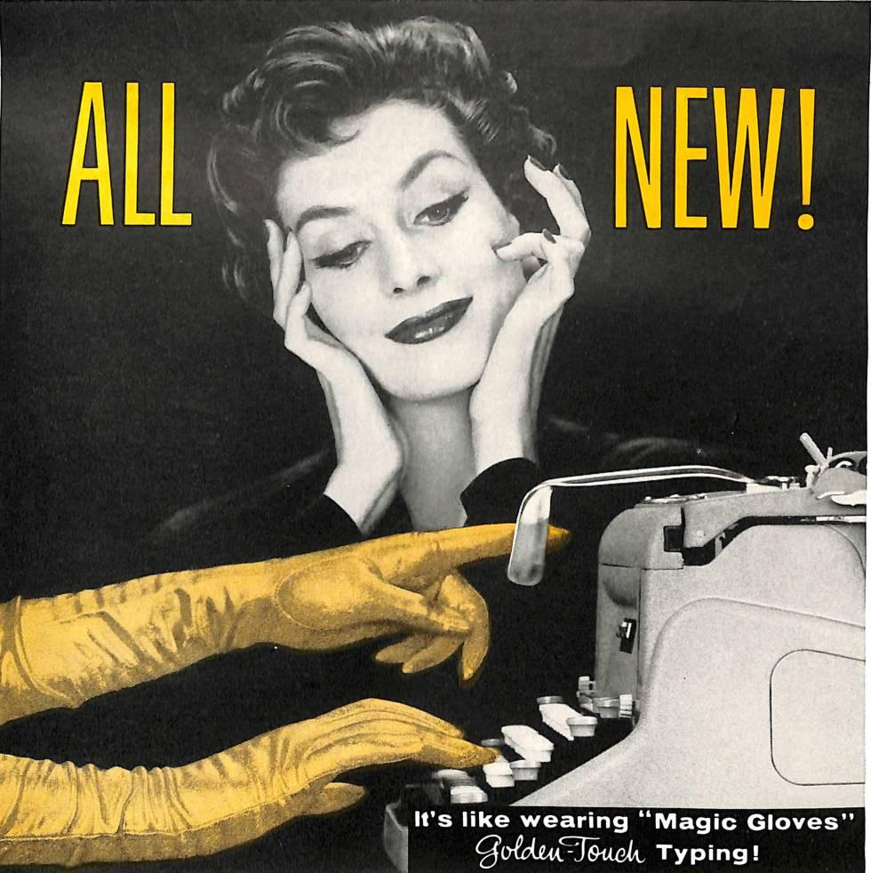 June 1957 Today's Secretary ad for Underwood Typewriters.